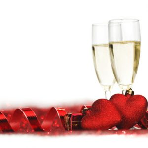 Champagne and Valentine's Day
