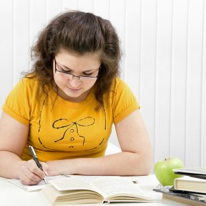 The girl the student on employment writes to writing-books