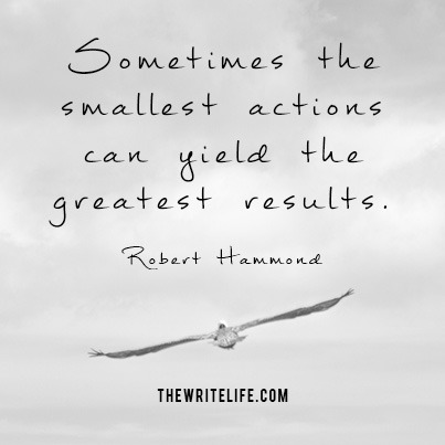 Small actions yield results