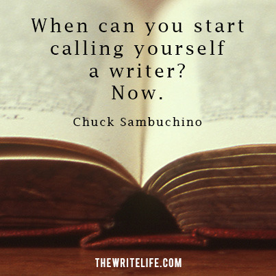 call yourself a writer